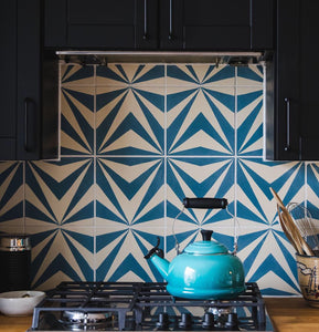 tiles-kitchen splash back cement tile-uk cement tiles
