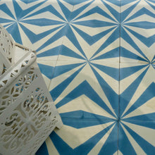 Load image into Gallery viewer, cement tiles uk, blue tiles, cement floor tiles, encaustic tiles