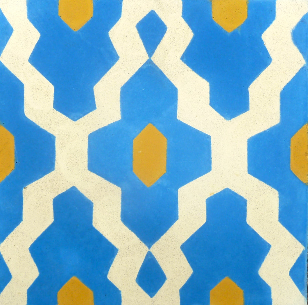 Souk (Cement Tile) - cement floor tiles-moroccan cement tiles uk- blue tilesMaria Starling Design