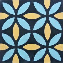 Load image into Gallery viewer, Oasis (Cement Tile) modern tile-black tiles-floor tile- Maria Starling Design