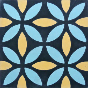 Oasis (Cement Tile) modern tile-black tiles-floor tile- Maria Starling Design