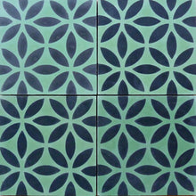 Load image into Gallery viewer, Oasis (Cement Tile) green tile-black tile-wall tiles-uk tiles- Maria Starling Design