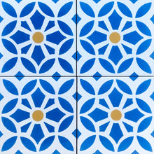 Load image into Gallery viewer, Cement bathroom floor tiles- blue /white wall tiles-encaustic cement bathroom tiles uk.
