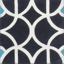 Load image into Gallery viewer, Lotus (Cement Floor Tile) black and white tile-floor tile-moroccan floor tile- Maria Starling Design