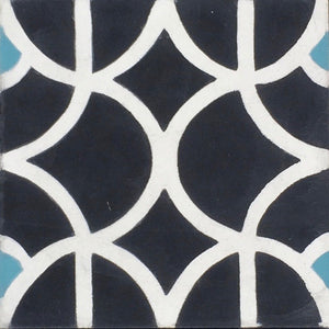 Lotus (Cement Floor Tile) black and white tile-floor tile-moroccan floor tile- Maria Starling Design
