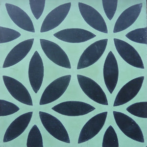 Oasis (Cement Tile) cement floor tile-kitchen floor tile-green tile- Maria Starling Design