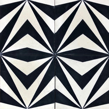 Load image into Gallery viewer, encaustic cement floor tiles-black and white tiles-bathroom tiles-kitchen tiles