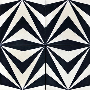 encaustic cement floor tiles-black and white tiles-bathroom tiles-kitchen tiles