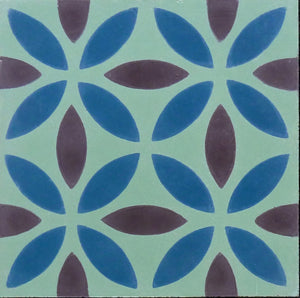 Oasis (Cement Tile) gerrn tile-moroccan style-bathroom floor tile- Maria Starling Design