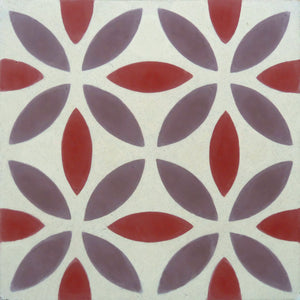Oasis (Cement Tile) purple tile-floor tile-wall tiles- Maria Starling Design