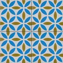 Load image into Gallery viewer, Oasis (Cement Tile) blue tiles-cement bathroom floor tile-kitchen tile-uk- Maria Starling Design