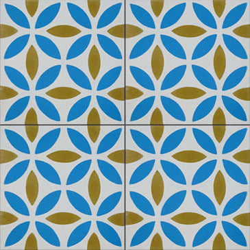 Oasis (Cement Tile) blue tiles-cement bathroom floor tile-kitchen tile-uk- Maria Starling Design