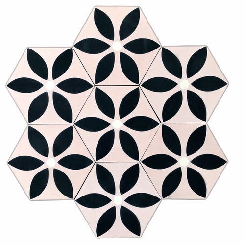 pink tile, cement tiles, wall tiles, encaustic cement tile , bathroom tiles, moroccan tiles uk