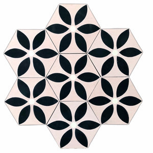 pink cement tile