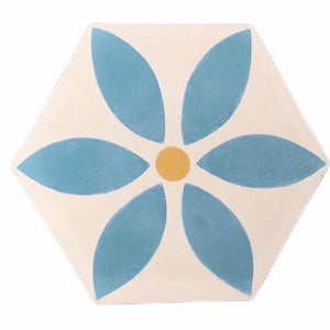 petal (cement tile)teal/cream