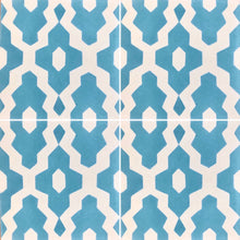 Load image into Gallery viewer, moroccan floor tiles-cement tiles uk-teal tiles-patterned bathroom floor tiles