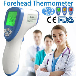 Non-Contact Touchless Infrared Forehead Instant Digital Thermometer LCD Display