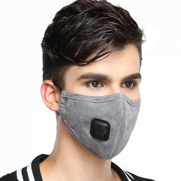 Washable Cotton Breathable Valve Face Mask