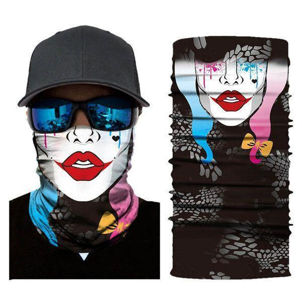 Unisex Bandanas Neck Gaiter Dust and Sun UV Protection (Joker-F)