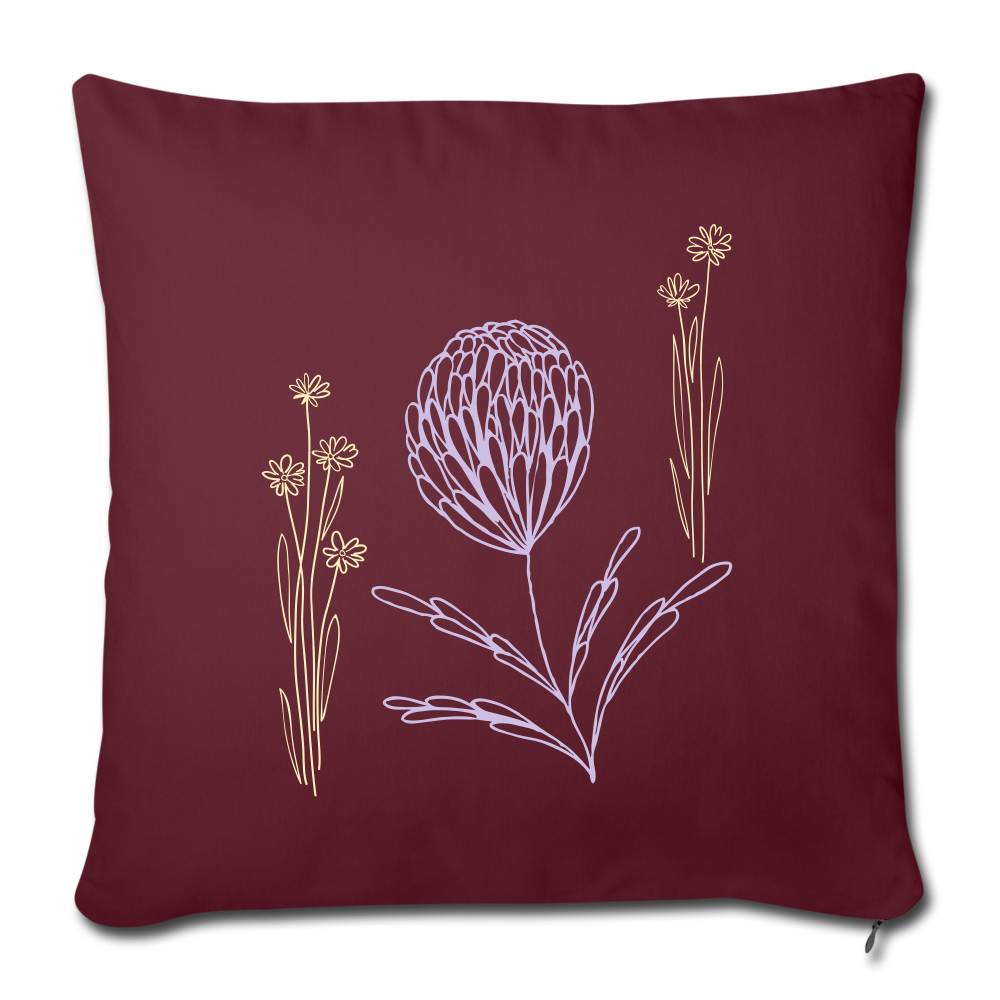 Wild Flowers Throw Pillow Cover 17 5 X 17 5 Simply1moore