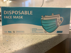 Disposable Face Masks 50/bx Bulk Pack (4) 200each
