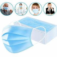 Load image into Gallery viewer, Disposable Face Masks 50/box Multi-Pack (2) 100each