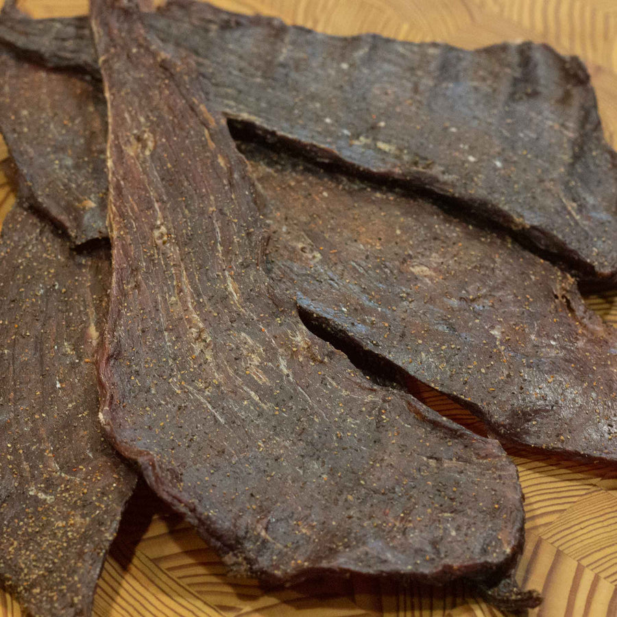 "Robertson's ""REAL BEEF JERKY"""