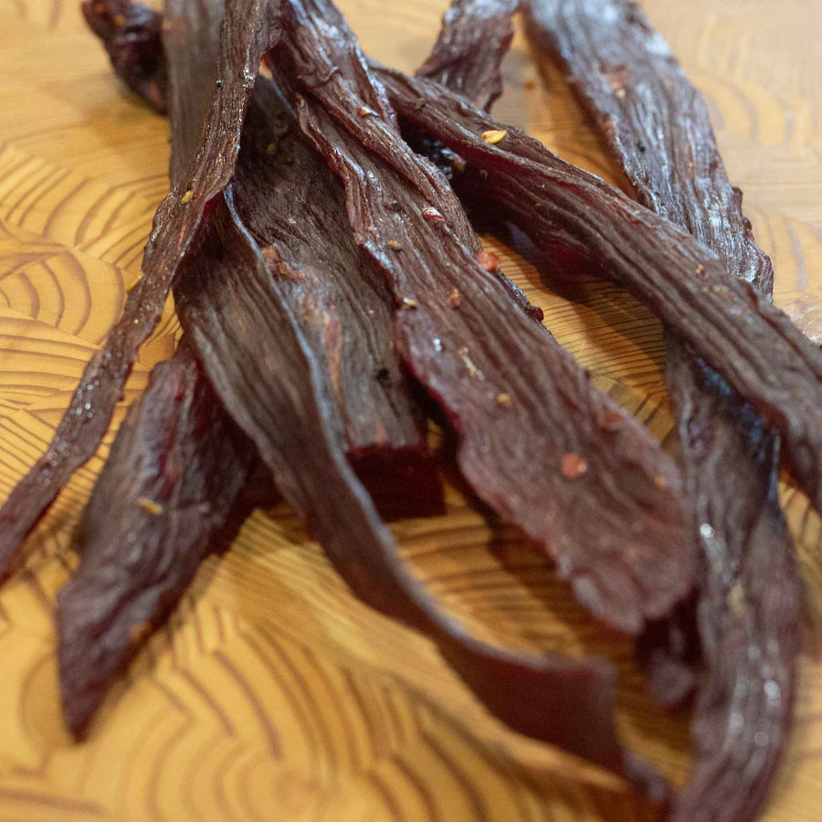 Hot Mesquite Smoked Beef Jerky