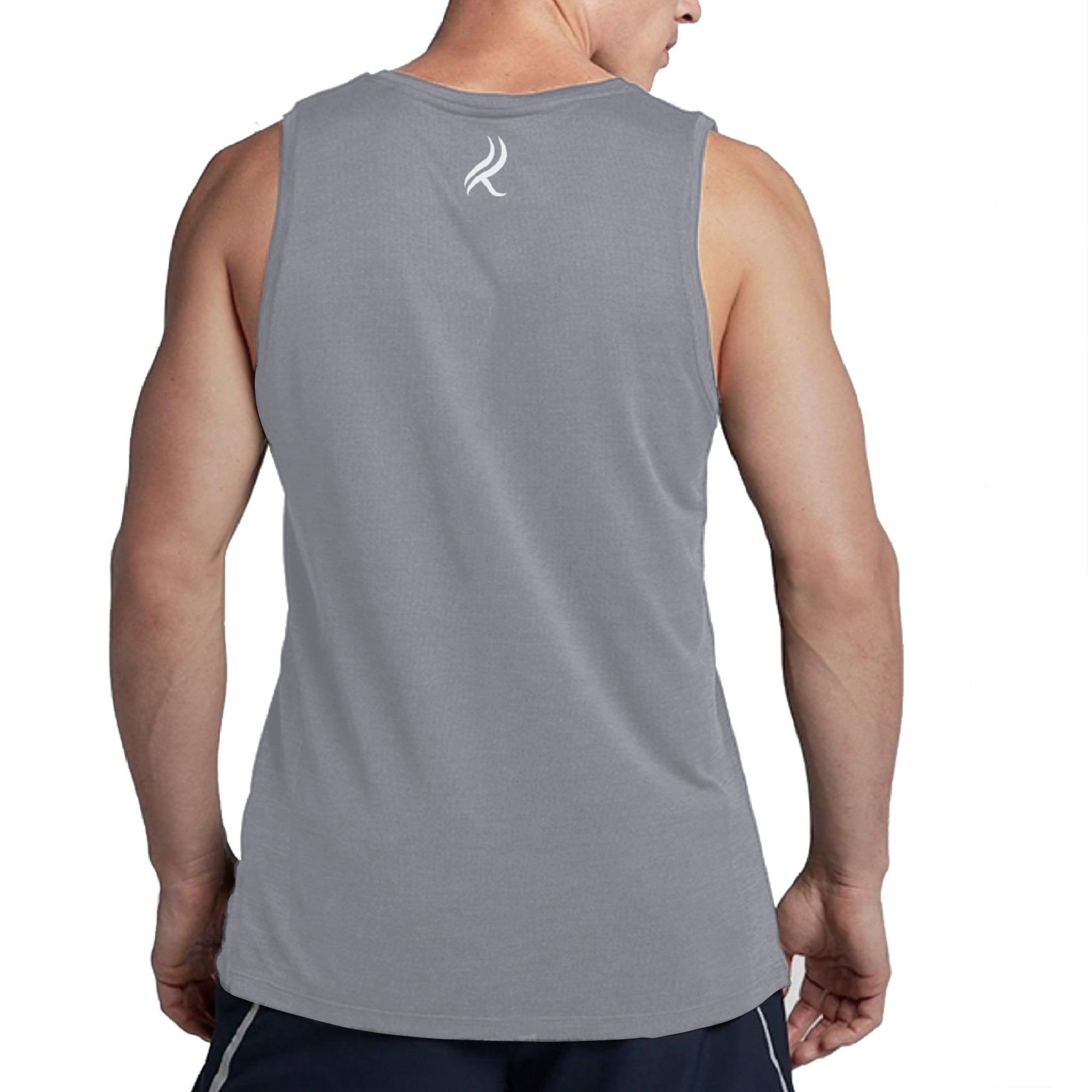 Kobrelms-Men Tank Tops and Shirts-Men's Active Tank Top-Grey / S