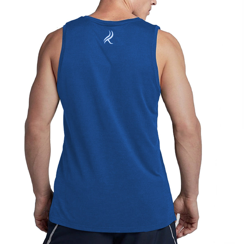 Kobrelms-Men Tank Tops and Shirts-Men's Active Tank Top-Blue / S
