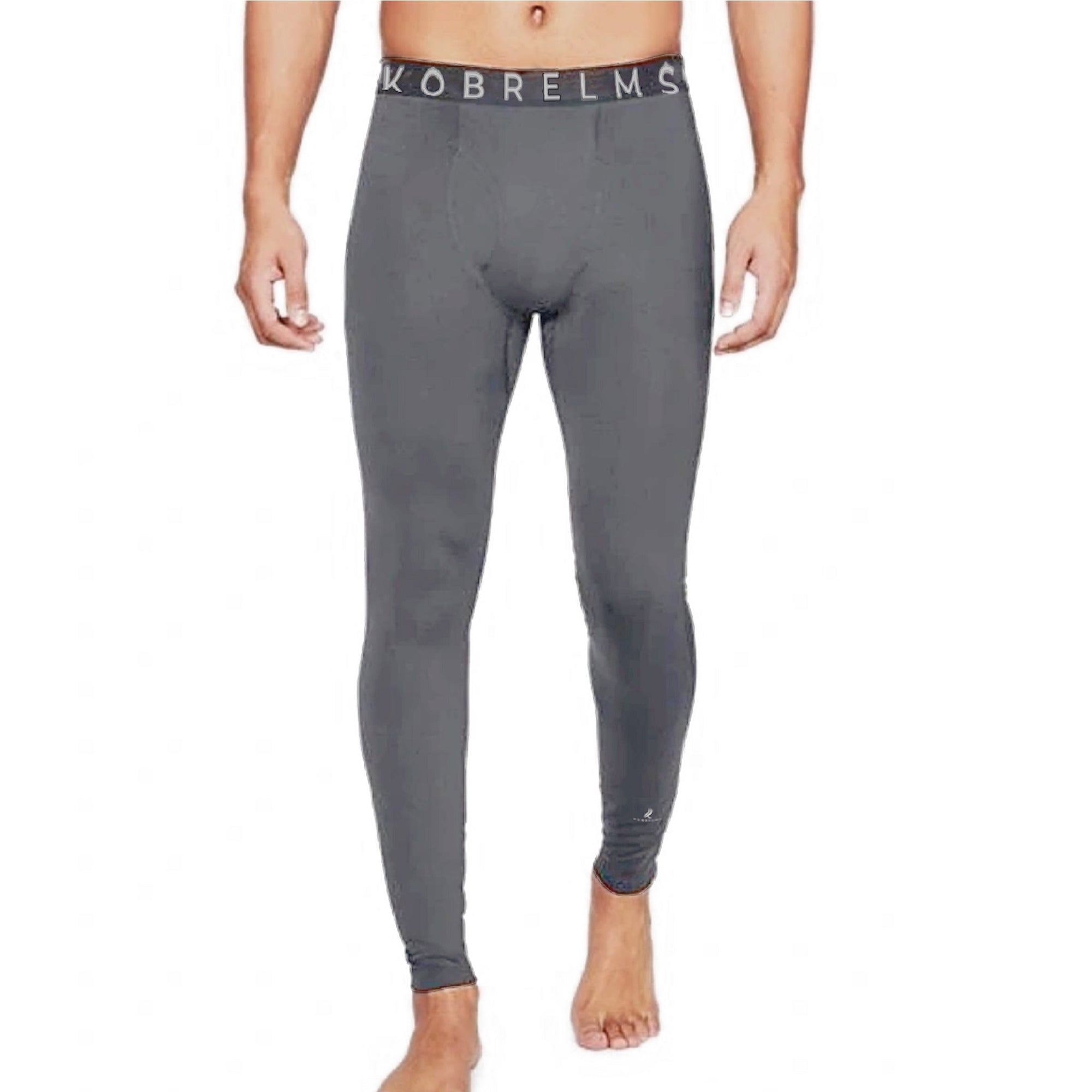 Kobrelms-Bottoms-Men's Thermal Compression Pants (Available FEBURARY 2021)-Grey / S