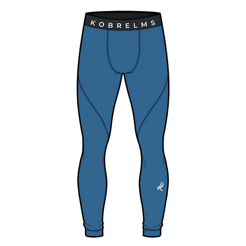 Kobrelms-Bottoms-Men's Thermal Compression Pants (Available FEBURARY 2021)-Blue / S