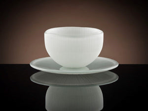 Firefly Tea Bowl & Saucer in White