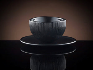 TWG Tea Tea Cups and Tea Bowls Firefly Tea Bowl and Saucer in Black