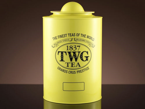TWG Tea Tea Tins Saturn Tea Tin in Canary Yellow