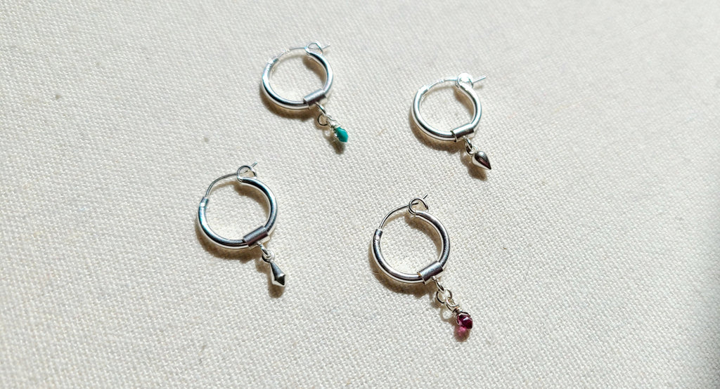 Mini Charm Hoop Earrings