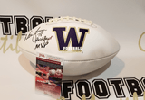 Autographed Footballs Warren Moon Autographed Washington Huskies White Panel Football