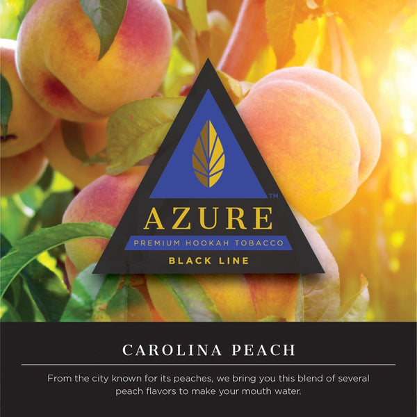 Azure Black Line Carolina Peach Hookah Tobacco 100g