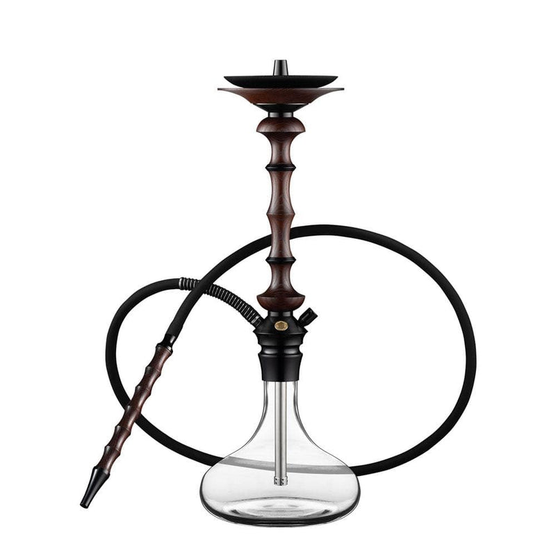 Japona Hookah Lotus Wooden Venge Shaft Transparent Base