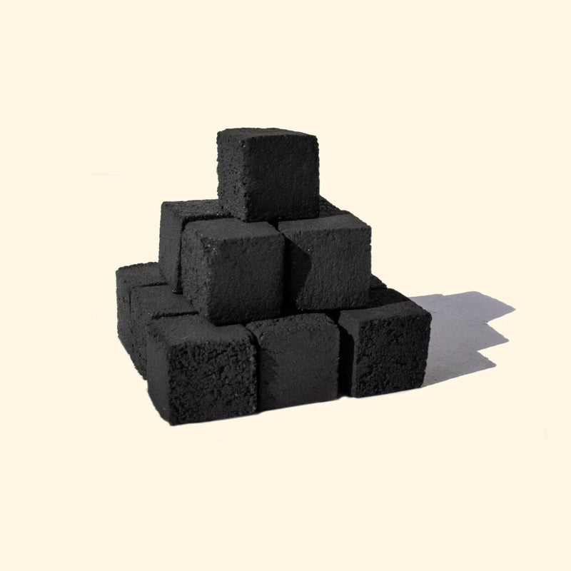 Le Orange Natural Coconut Hookah Coals - Small Cubes - 96 Pieces