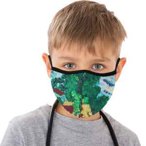 Nature trees green house graffiti 1 Mask Cotton Fabric Dust Cover(ModelM03) - Pitgnarf Shops