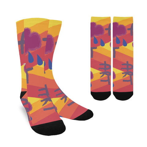 Image of Women's Custom Socks, Art Design, Free Shipping
