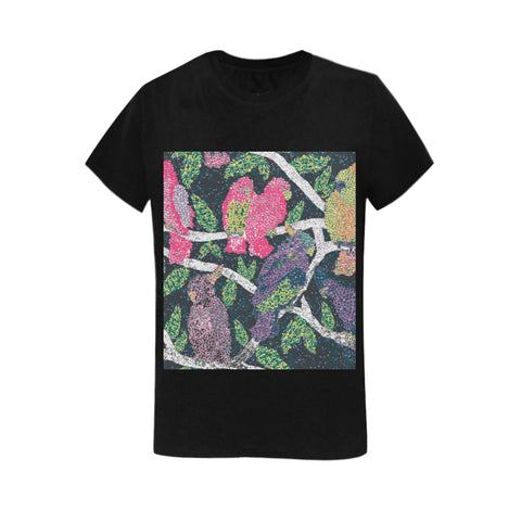 Image of Classic Women's Colorful Birds T-shirt - Pitgnarf Shops