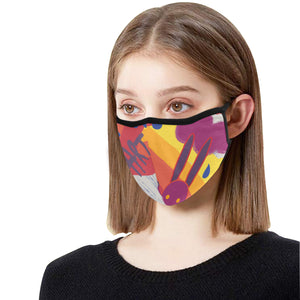 Single Mask Art Cotton Fabric Dust Cover(ModelM03) - Pitgnarf Shops