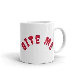 White Ceramic Coffee Mug - Bite Me - Made in the USA