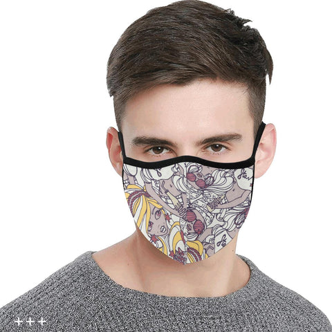 Image of Cotton Fabric Dust Mask, Face Cover