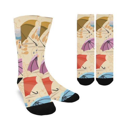 Image of Women's Custom Socks - Floral Design (Made In USA)
