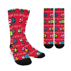 Red Women's Colorful Classy Custom Socks (Made In USA)