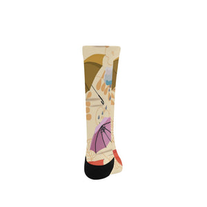 Women's Custom Socks - Floral Design (Made In USA)