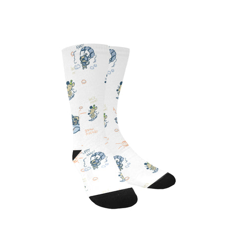 Women's Snowboarding Puppy Custom Socks -Free Shipping